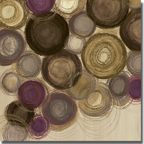 Purple Whimsy Sq. II by Jeni Lee Premium Stretched Canvas (Ready-to-Hang)