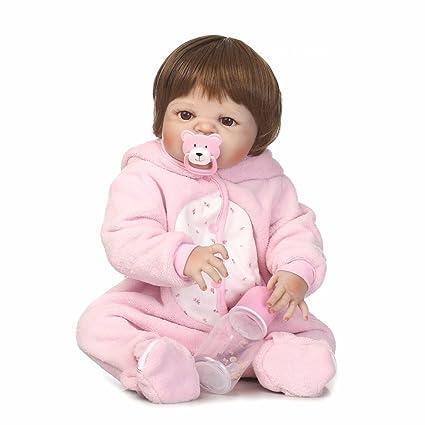 Amazon.com: BZDOLL Muñeca de vinilo rosa de 22.0 in para ...