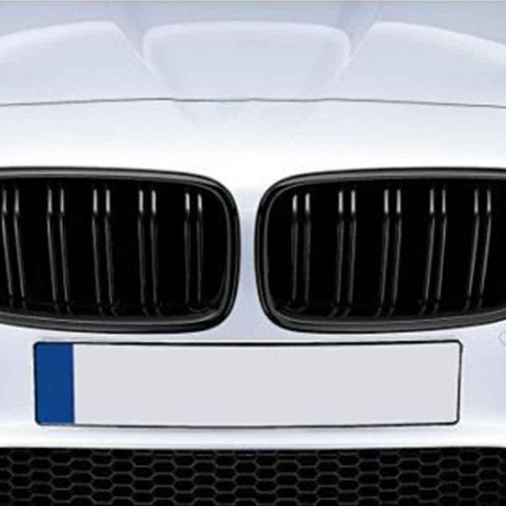 Ben-gi 1 Coppia Anteriore del Rene griglia per BMW Serie 5 F10 F18 10-15 Doppia Slat Linea Nero Opaco Paraurti Anteriore Grill