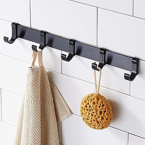 Home Improvement Adjustable Overdoor Strap Hanger Hat Bag Clothes Coat Rack Home Organizer 7 Hooks Home Bathroom Bedroom Supply Bathroom Fixtures