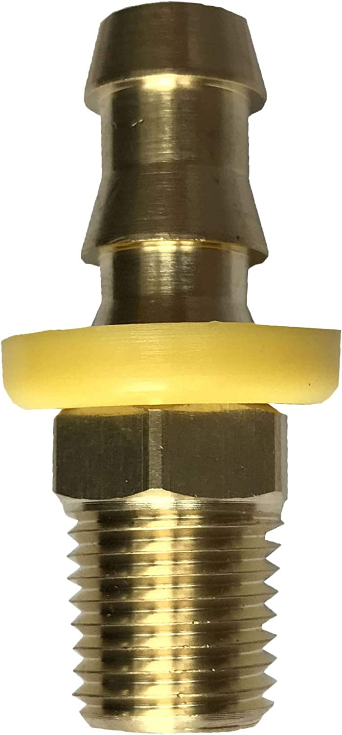 sky-w Easy Lock Hose Brass Fittings 5, 5//16 Hose ID x 1//4 Male NPT Hose Barb to Male Pipe Push-On Connector