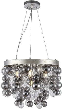 Elegante Iluminação 4000D18PN Endicott - Cinco pingentes