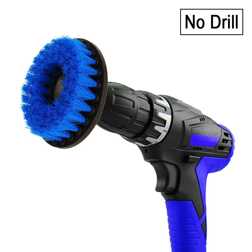 Drill brush - Spazzola trapano per la pulizia delle setole di media durezza di 9cm per piastrelle pavimento cucina bagno mattone sleepsoon