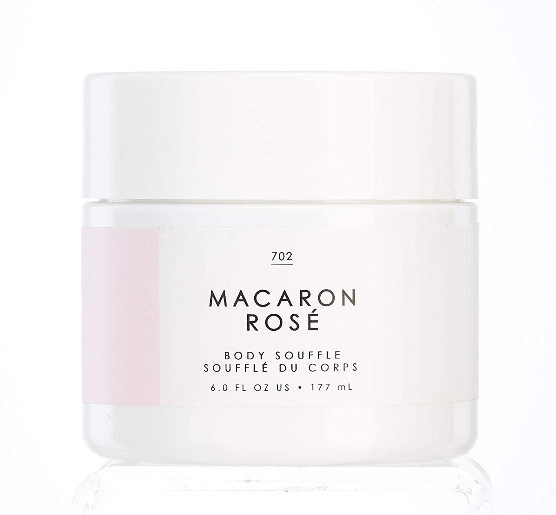 No. 702 Macaron Rose Body Souffle - Gourmand by Tru Fragrance and Beauty - Lightweight, Hydrating, Scented Moisturizer - Eau de Rose, Turkish Delight, Sugar Cane - 6 oz