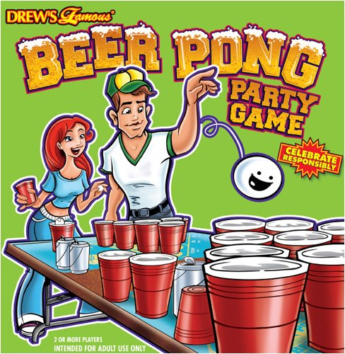 Drew Beer Pong Party Game ()
