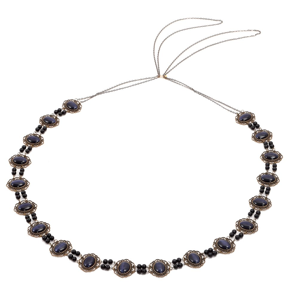 GRACEART Tudors Chain of Office Livery Collar Necklace (Dark Blue Cabochons)