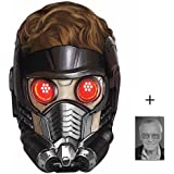 Mask Pack - Peter Quill (Chris Pratt) Star-Lord Marvel Guardians of the Galaxy Single Card Party Face Mask includes 6x4 inch (15cm x 10cm) Star Photo