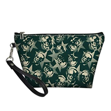 7574f7978a38 Amazon.com : Bigcardesigns Trendy Skull Designs Cosmetic Bags Travel ...