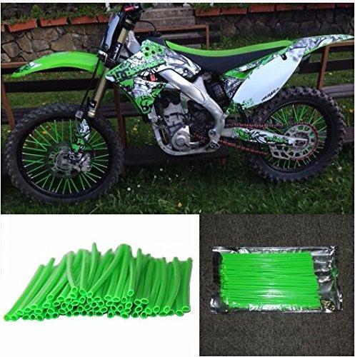 72 Pcs Green Motorcycle Spoke Covers Guards - 19''-21'' Rims Kawasaki KX125 KX250 KX250F KX450F KLX250 Dirt Bike by Unknown (Image #1)