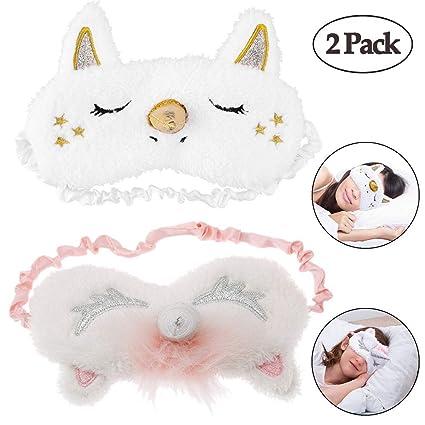 Máscara de dormir de unicornio, máscara de dormir de unicornio, XinGe, bonita máscara