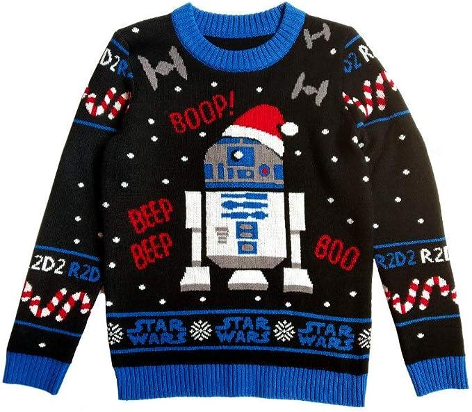 Ugly Christmas Sweater D2 R2 Pull de Noël Star Wars Homme et Femme