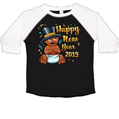 ab2431ac3 inktastic - Happy New Year 2019- Toddler T-Shirt 2T Black and White 2da9d