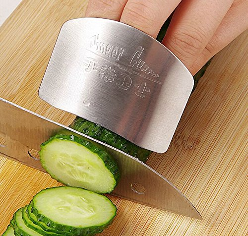1PCS Safe Kitchen Knife Knife Safe Personalized Design Stainless Steel Finger Hand Guard Finger Protector Knife Slice Chop Safe Slice Cooking Tools Border Guard Knife Knife Edge Guard by Generic (Swing Guard Knife)