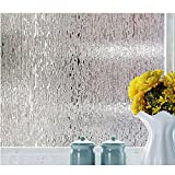 Rain Glass Window Film Static Cling Opaque Glass Sticker Home Decor
