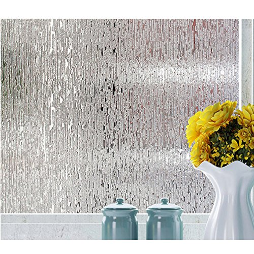 Rain Glass Window Film Static Cling Opaque Glass Sticker Home Decor by OUXWOM