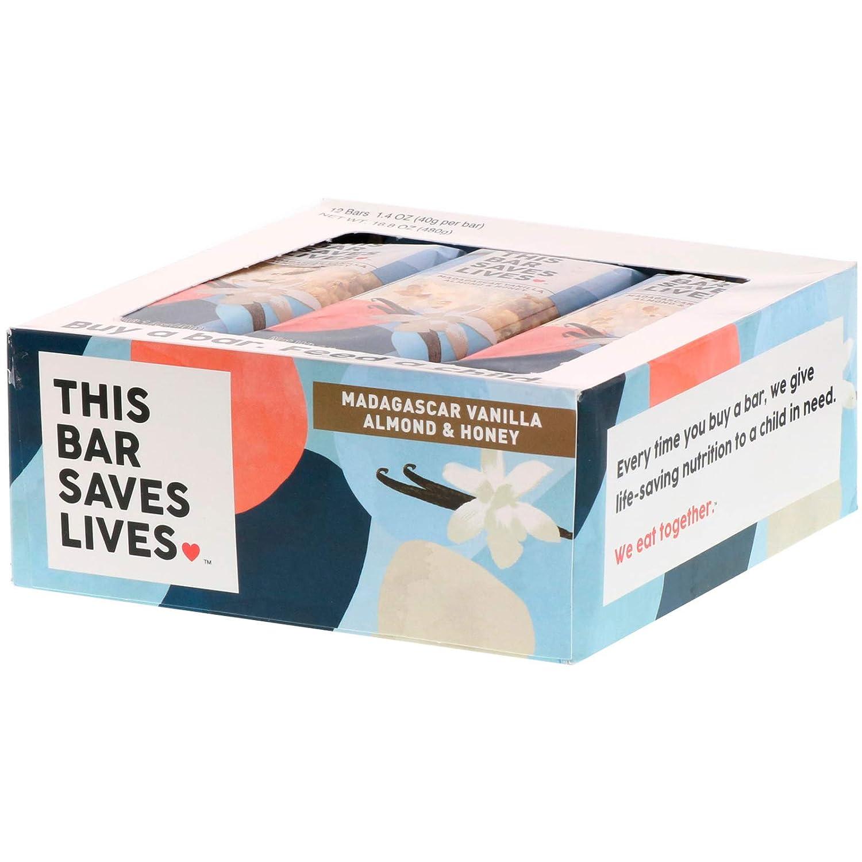 This Bar oz - Saves Lives 1941350 1.4 oz B077G34FPQ Madagascar Vanilla Almond & Honey - Case of 12 B077G34FPQ, 美作町:7cd78670 --- ijpba.info