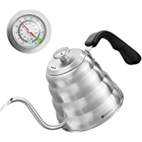 Pour Over Coffee Kettle with Thermometer for Exact Temperature 40 fl oz - Premium Stainless Steel Gooseneck Kettle for…