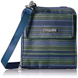 Baggallini Rfid Travel Passport Crossbody, Moss Stripe