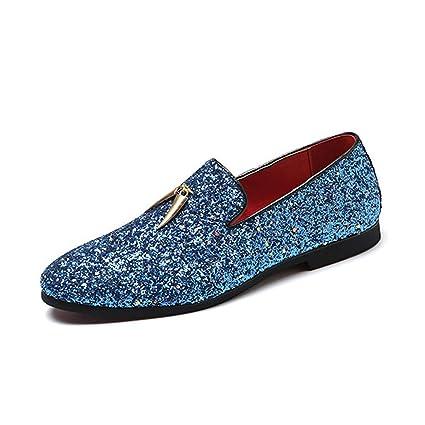 Eeayyygch Zapatos Casuales de otoño para Hombres, Zapatos de Cuero Transpirables para Hombres de Comercio