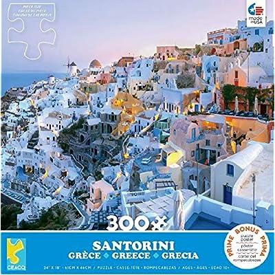 Scenic Photography Santorini Puzzle - 300Piece: Toys & Games