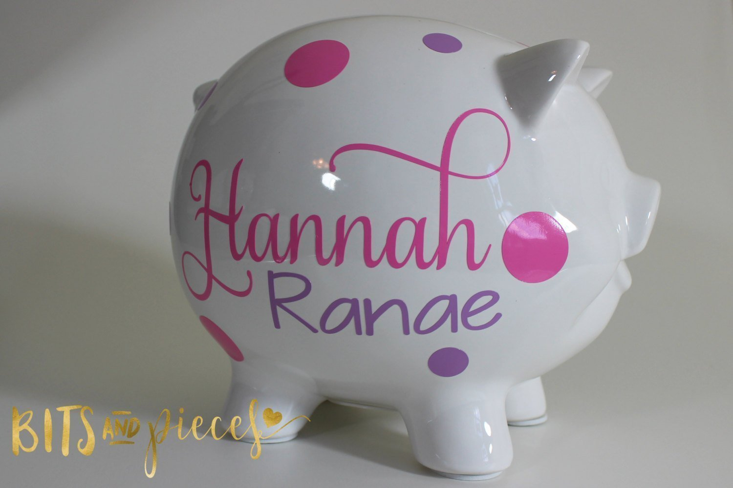 Personalized Piggy Bank - Baby - Newborn - Nursery - Baby Shower - Birthday Present - Christmas Gift