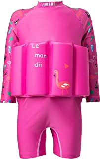 Sun Protection Float Suit Rash Guard Manica Lunga Cerniera Posteriore per Bambina