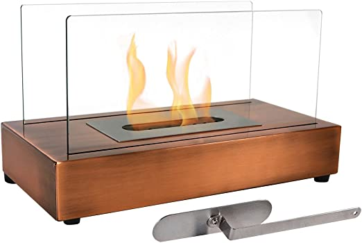 Sunnydaze - Chimenea de mesa de bioetanol sin ventilador modelo ...