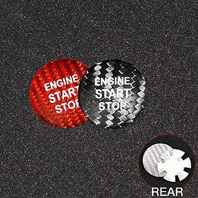 AIRSPEED Carbon Fiber Car Engine Start Button Sticker for Lexus IS250 IS200 IS300 ES350 ES330 GS350 GS300 NX300 NX200T RX350 RX300 LX RC (Black): Automotive