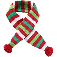 POPETPOP Elegante Bufanda para Mascotas, Bufanda de Navidad Ajustable para Perrito, Baberos Accesorios para Perros y…