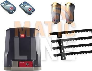 BFT Kit Deimos Ultra BT A400 24 V 400 Kg Puerta Corredera con intermitente fotocélulas Thea ML09: Amazon.es: Bricolaje y herramientas