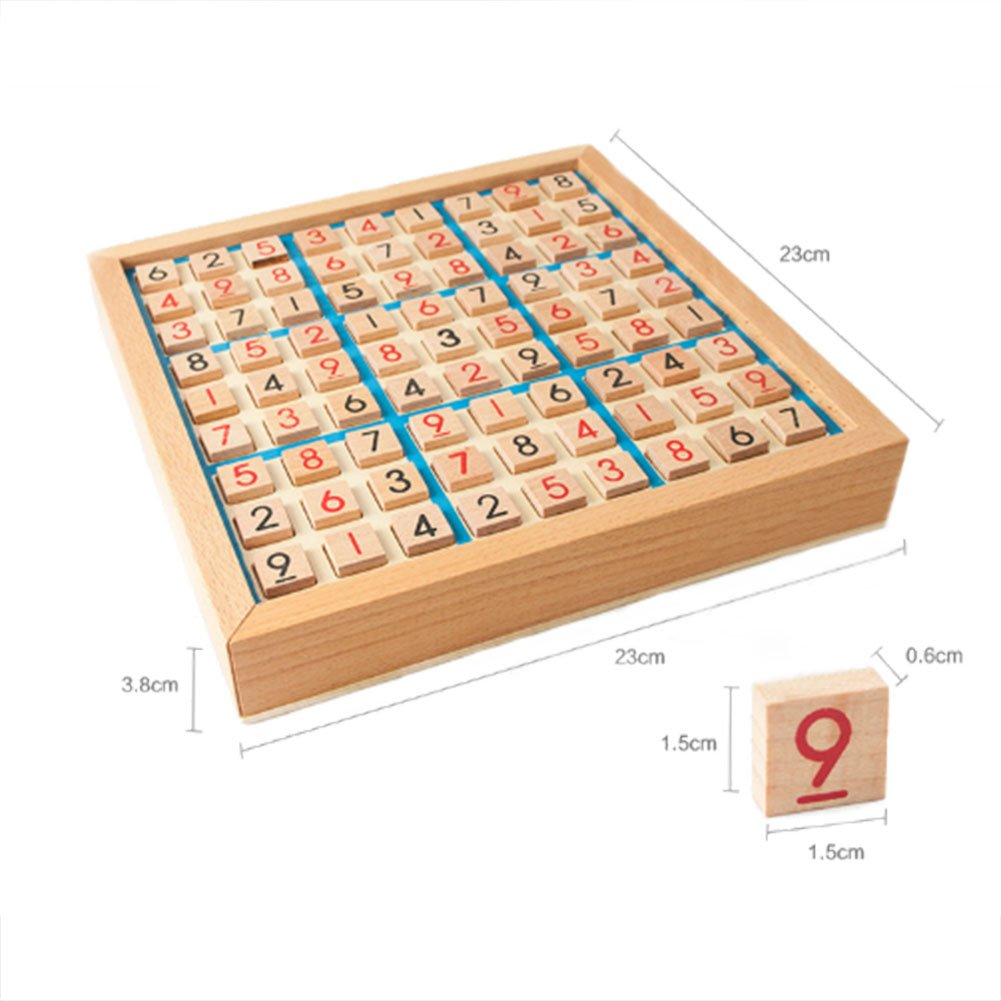 Wooden Sudoku Game,NACOLA Puzzle Game with Wooden Number and Thinking Tiles/Board Games by NACOLA (Image #3)