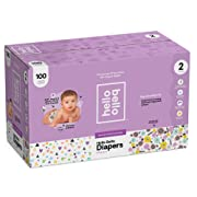 Hello Bello Diapers Club Box - Be Still My Hearts/Spring Blooms (Size 2, 100 ct)