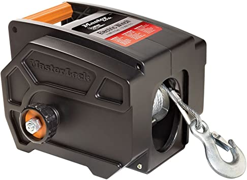 Amazon Com Master Lock Electric Winch Portable 12 Volt Dc Electric Winch 2953at Automotive