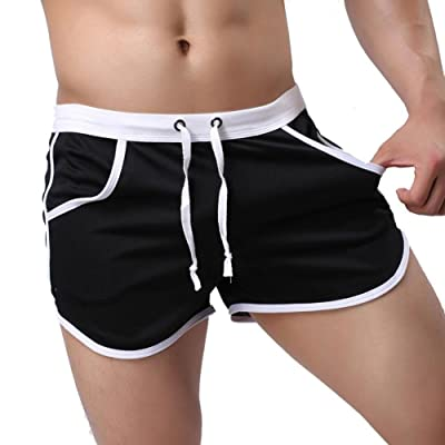 KAMUON Men's Fitted Pockets Running Bodybuilding Workout Gym Active Short Shorts