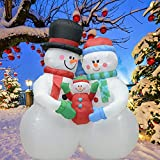 Fashionlite 8 Feet Christmas Xmas Inflatable Snowmen Family Lighted Blow-Up Yard Party Decoration