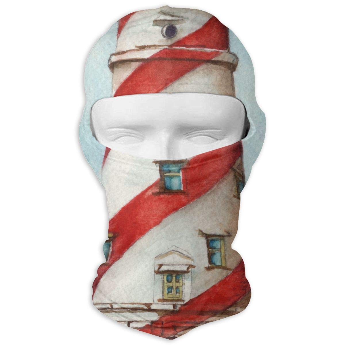 LaoJi Lighthouse Painting Winter Ski Mask Balaclava Hood Wind-Resistant Face Mask
