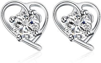 YAZILIND 925 Sterling Silver Starfish Cubic Zirconia Stud Earrings evAh04