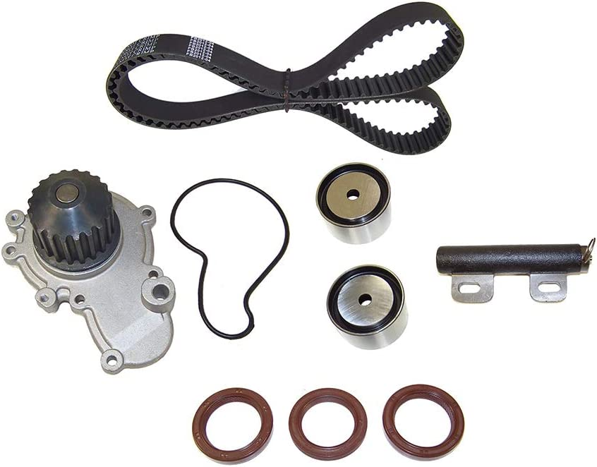 Eagle Dodge Eclipse Talon // 2.0L // DOHC // L4 // 16V // 122cid Plymouth//Avenger Sebring DNJ TBK150WP Timing Belt Kit with Water Pump for 1995-1999 // Chrysler Neon Mitsubishi