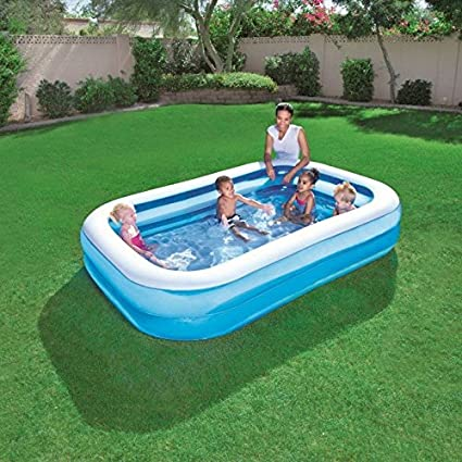 54006 Piscina inflable rectangular Bestway 262x175x51 cm vinilo 2 ...