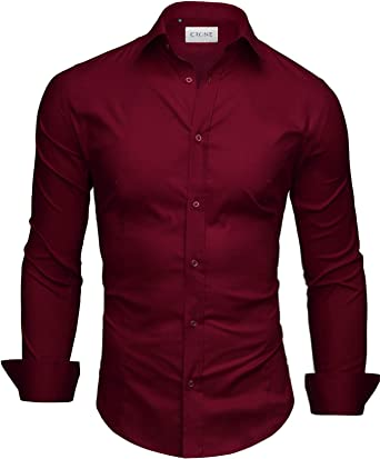 CRONE - Camisa Casual - para Hombre: Amazon.es: Ropa y accesorios