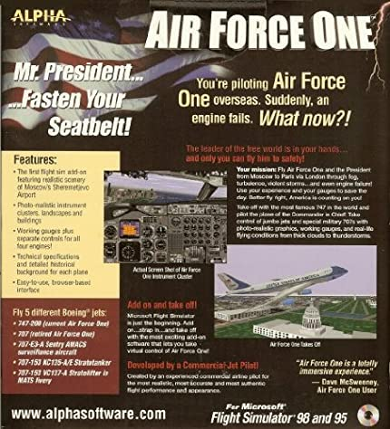 : Air Force One for Microsoft Flight Simulator 98 and 95: Video Games