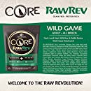 Wellness CORE RawRev Natural Grain Free Dry Dog Food, Wild Game Duck, Wild Boar & Rabbit with Freeze Dried Lamb, 18-Pound Bag