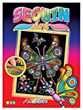 Sequin Art Red, Butterfly, Sparkling Arts and Crafts Picture Kit, Creative Crafts