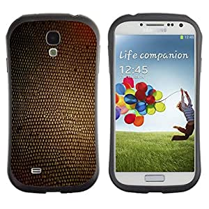 Suave TPU GEL Carcasa Funda Silicona Blando Estuche Caso de protección (para) Samsung Galaxy S4 I9500 / CECELL Phone case / / Texture Brown Material Design Textile /