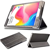 Maxku Teclast P80 Pro ケース 高級PUレザーケース カバー 手帳型 軽量 全面保護型 スタンド機能付き スマートカバー (ブラック)