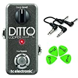 TC Electronic Ditto Looper Guitar Pedal Value Bundle w/ 2 6