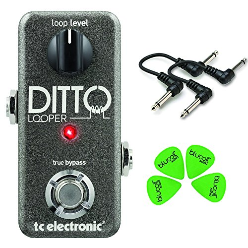 "TC Electronic Ditto Looper Guitar Pedal Value Bundle w/ 2 6"" Patch Cables and Blucoil Guitar Picks"