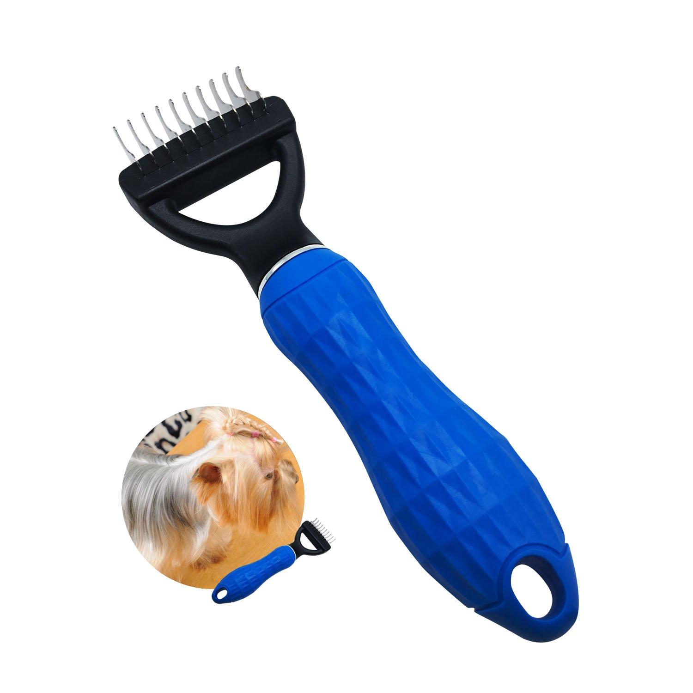 FurPro pets dematting comb grooming undercoat rake with 10 blrades