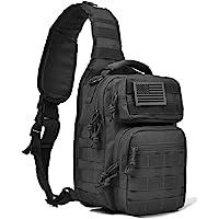 Tactical Sling Bag Pack Military Rover Shoulder Sling Backpack Molle Assault Range Bag Everyday Carry Diaper Bag Day Pack Small