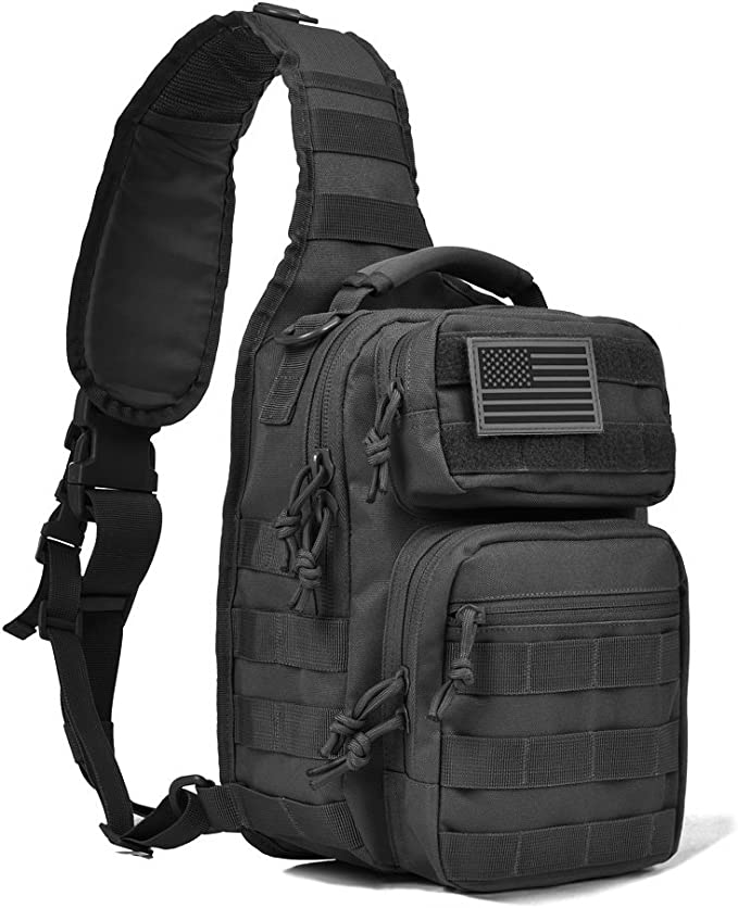 best range bags: REEBOW GEAR Tactical Sling Bag Pack Military Rover Shoulder Sling Backpack Molle Assault Range Bag Everyday Carry Diaper Bag Day Pack Small